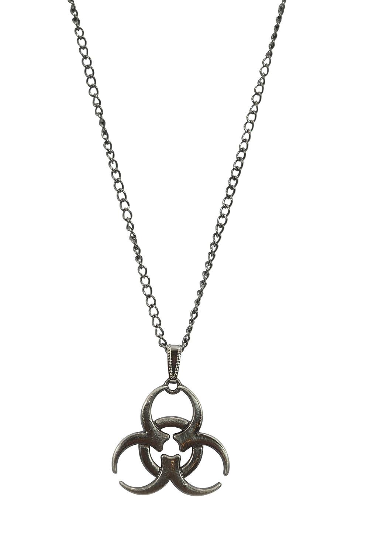 Nugoth Cyber Steampunk Bio-hazard Radioactive Chain Pendant Necklace