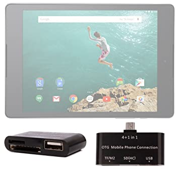 DURAGADGET Lector De Tarjetas para La Tablet Google Nexus 9 ...