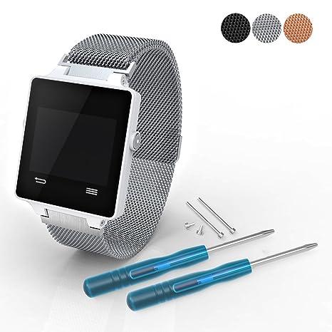 iFeeker Bracelet de remplacement en acier inoxydable pour montre de golf GPS Garmin Approach S2/