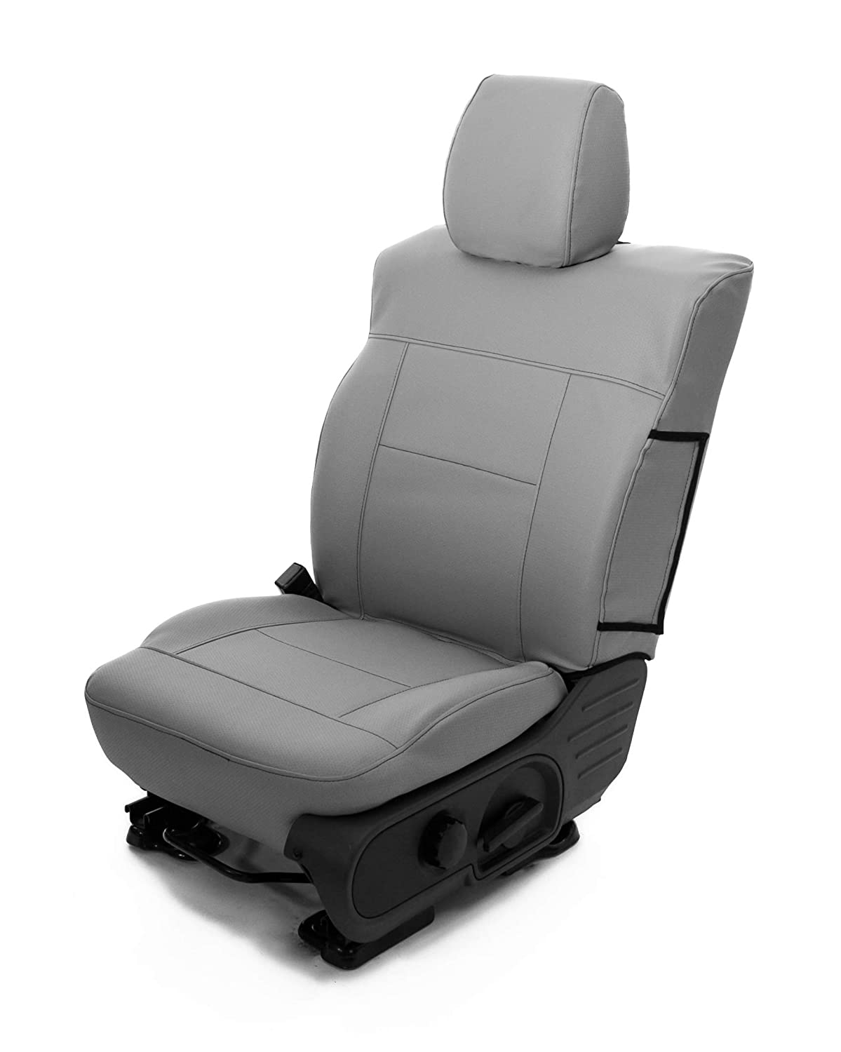 Saddleman S 779915-14 Gray Bucket Custom Made Front with Molded headrest Seat Covers
