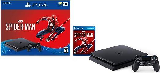 Sony PlayStation 4 Delgado Consola de 1 TB - de Marvel Spider-Man Bundle [continuado]: Amazon.es: Videojuegos