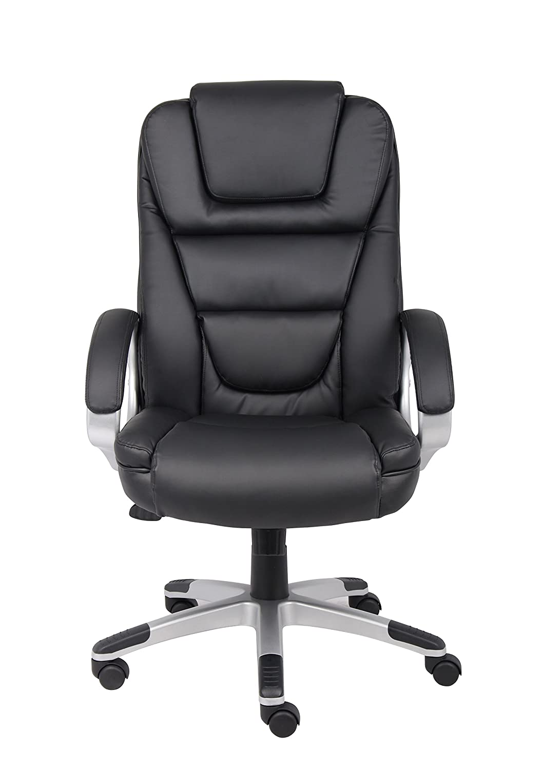 Beautiful Amazon.com: Boss Office Products B8601 High Back No Tools Required  LeatherPlus Chair In Black: Kitchen U0026 Dining