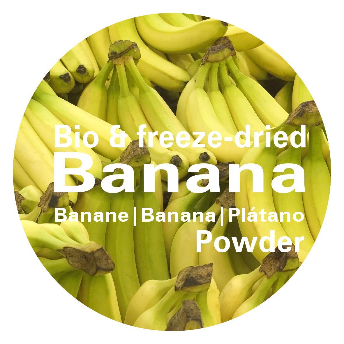Plátano en Polvo - Liofilizado|biológico|vegano|crudo|pura fruta|no aditivo|rica en vitamina|Good Nutritions 120g: Amazon.es: Alimentación y bebidas