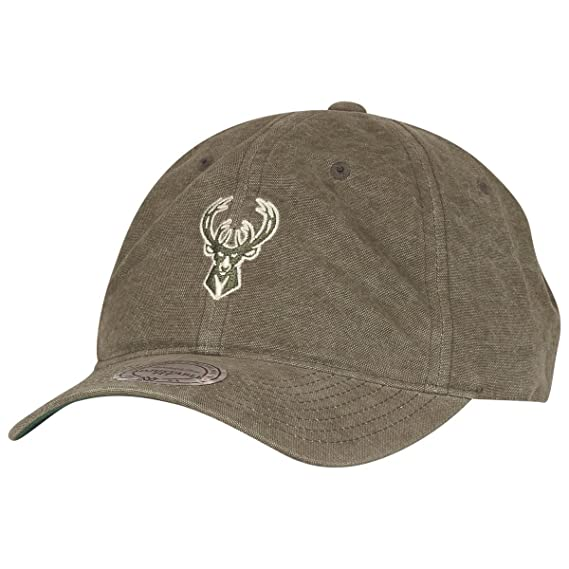 3fd65975 Mitchell & Ness Boston Celtics Workmens Strapback Cap - Olive Adjustable
