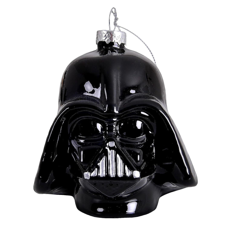 Star Wars Boule de No/ël Darth Vader 8x8x11cm verre noir