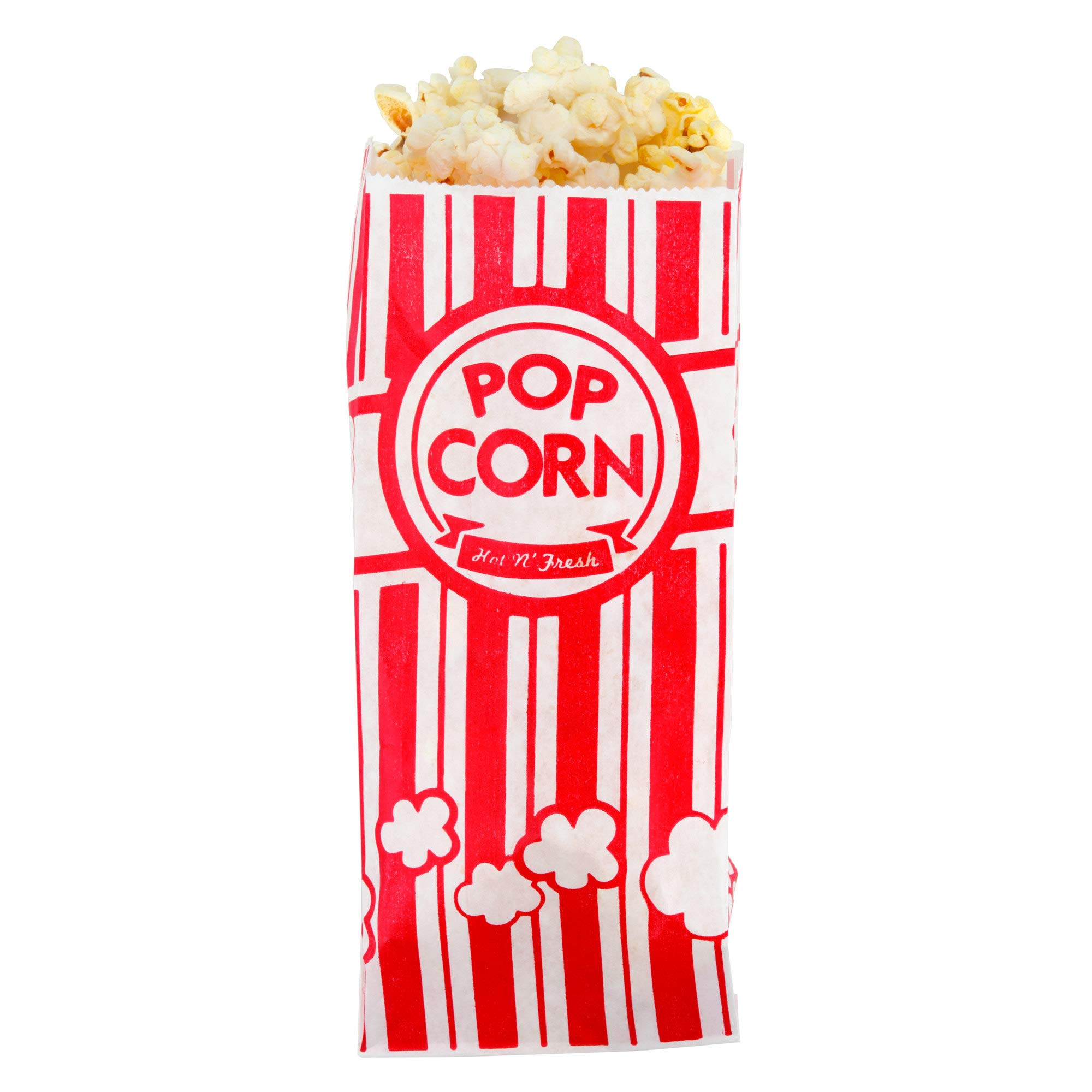Professional Quality 3 1/2'' x 2 1/4'' x 8'' 1 oz. Popcorn Bags, Commercial Grade, Movie Theater - Set of 5000