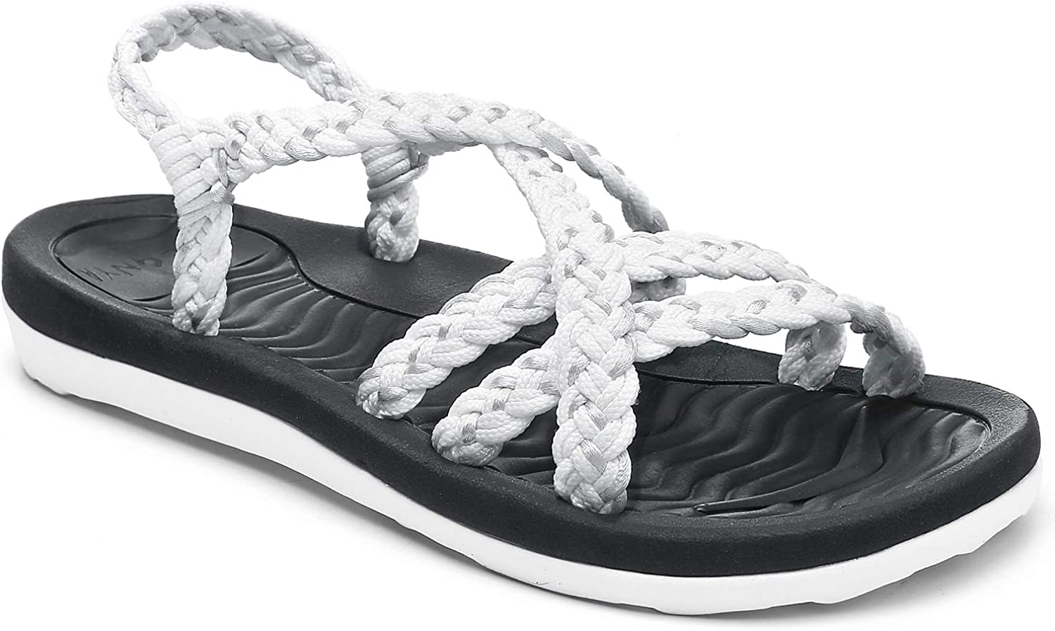 Women's Comfortable Walking Sandals with Arch Support, Athletic Hiking Sandals for women,Wadable Water Sandals for Spot/Beach/Poolside/Cruise/Travel/Wedding