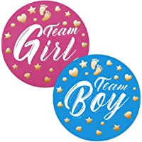 80-Count Aitsite Gender Reveal Stickers