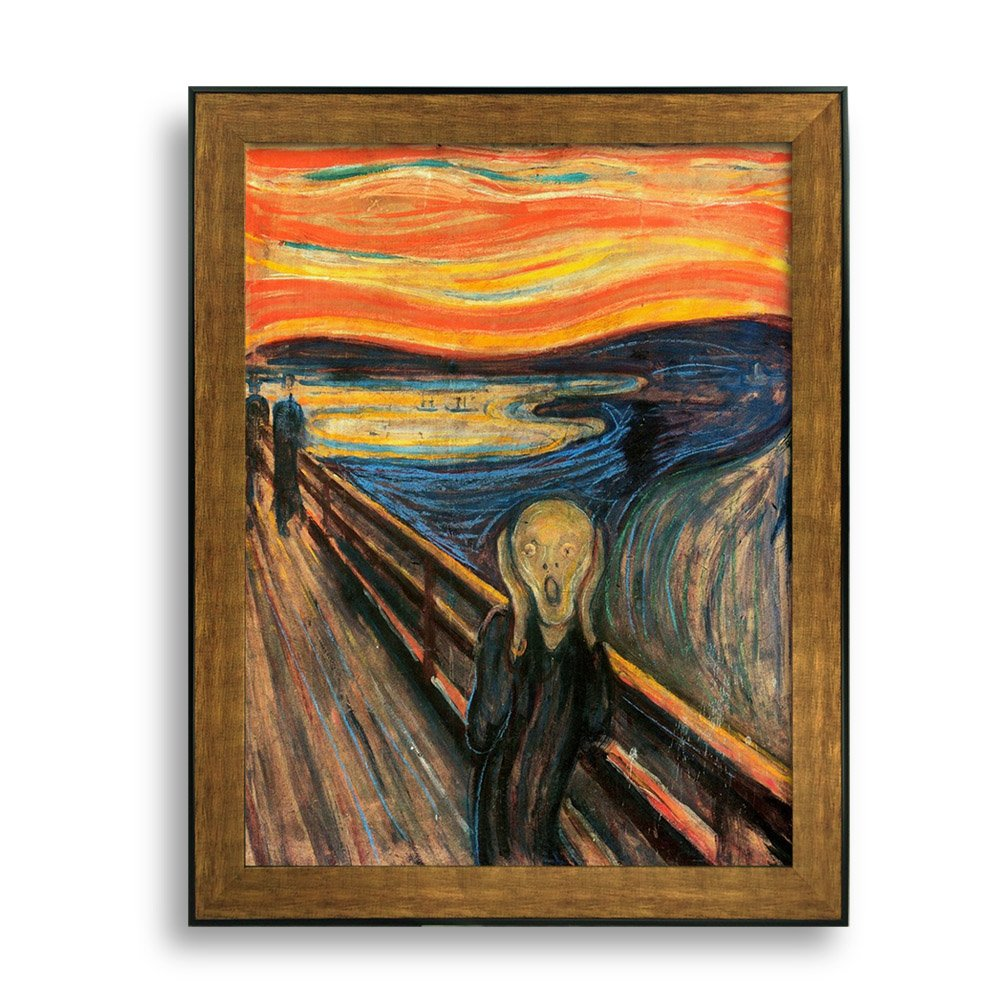 amazoncom the scream of nature edvard munch art print - 1000×1000