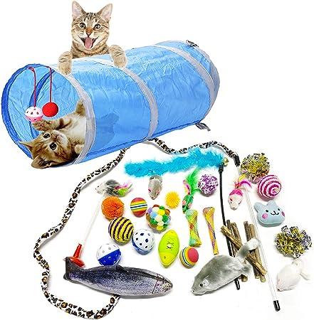 PietyPet Juguetes para Gatos, 31 Piezas Juguetes Gatos, Juguete Interactivo para Gatos Kitty: Amazon.es: Hogar
