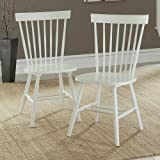 Sauder 416568 White Finish Cottage Road Spindle Back Chair (2 Pack)