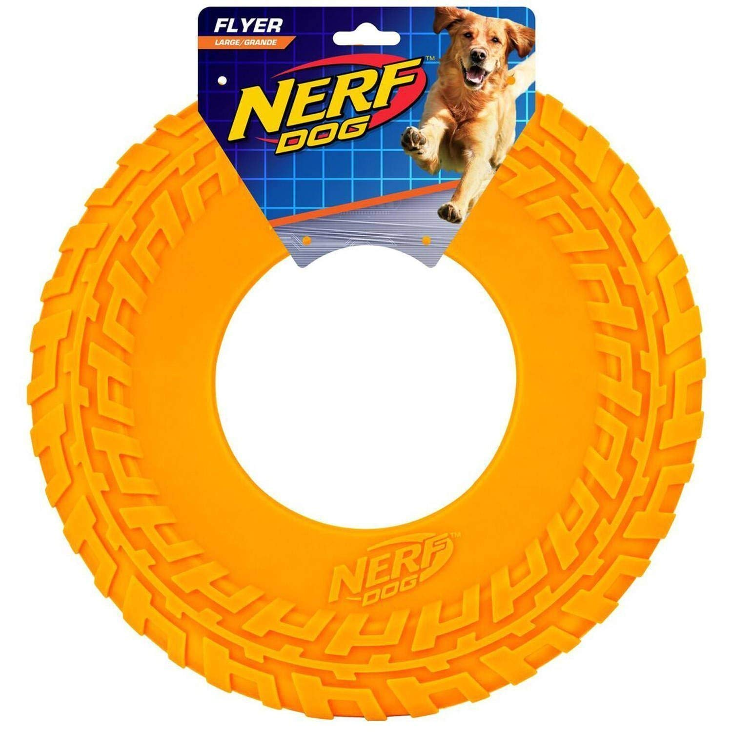 Nerf Dog TPR Flyer, 10-Inch (Great Toy for Your Favorite Pooch) (Orange) by Nerf Dog
