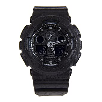 55220cd91 Casio Men'S Black Dial Synthetic Band Watch - Ga-100Cg-1Adr,: Amazon.ae
