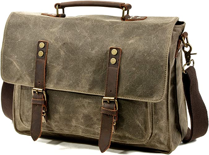 """New Genuine Leather Soft Lambskin 14/"""" Laptop Tote Bag w Strap Suitcase Briefcase"""