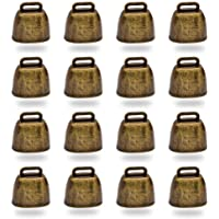 16 cascabeles de metal de estilo vintage, para pastoreo de ganado, caballos y ovejas, accesorios antipérdidas para…