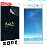 J&D Compatible for 8-Pack Xperia L1 Screen Protector, [Not Full Coverage] Premium HD Clear Film Shield Screen Protector for Sony Xperia L1 Crystal Clear Screen Protector