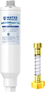 Waterspecialist RV Inline Water Filter, NSF Certified, Reduces chlorine, bad taste and odor, rust, corrosion, sediments, and turbidity, Dedicated for RVs, 1 Pack Water Filter with Hose Protector