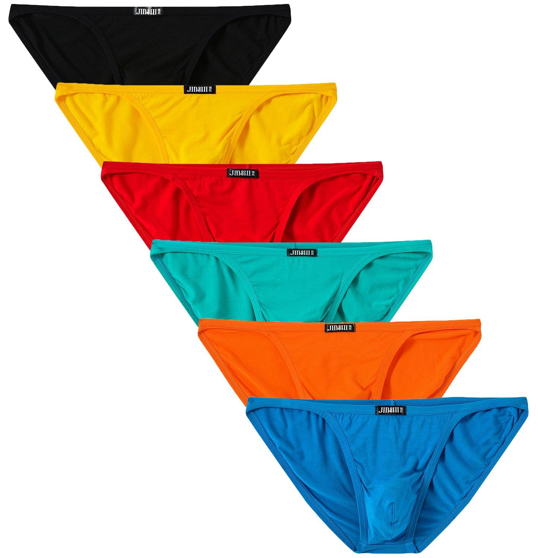JINSHI Men Briefs Low Rise String Bikini Underwear L(27''-30'')/US size S