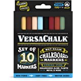 Liquid Chalk Markers by VersaChalk - Non Toxic Wet Erase Chalkboard Window Glass Pens (Fine Classic Colors Set)