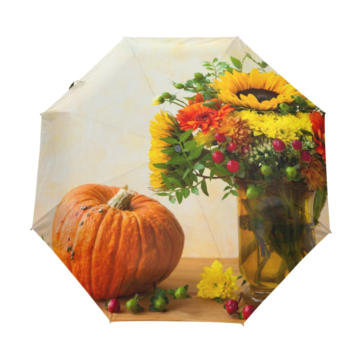 08dbff22ec13 Windproof Auto Open Close Umbrella Flower Bonquet Compact Travel ...