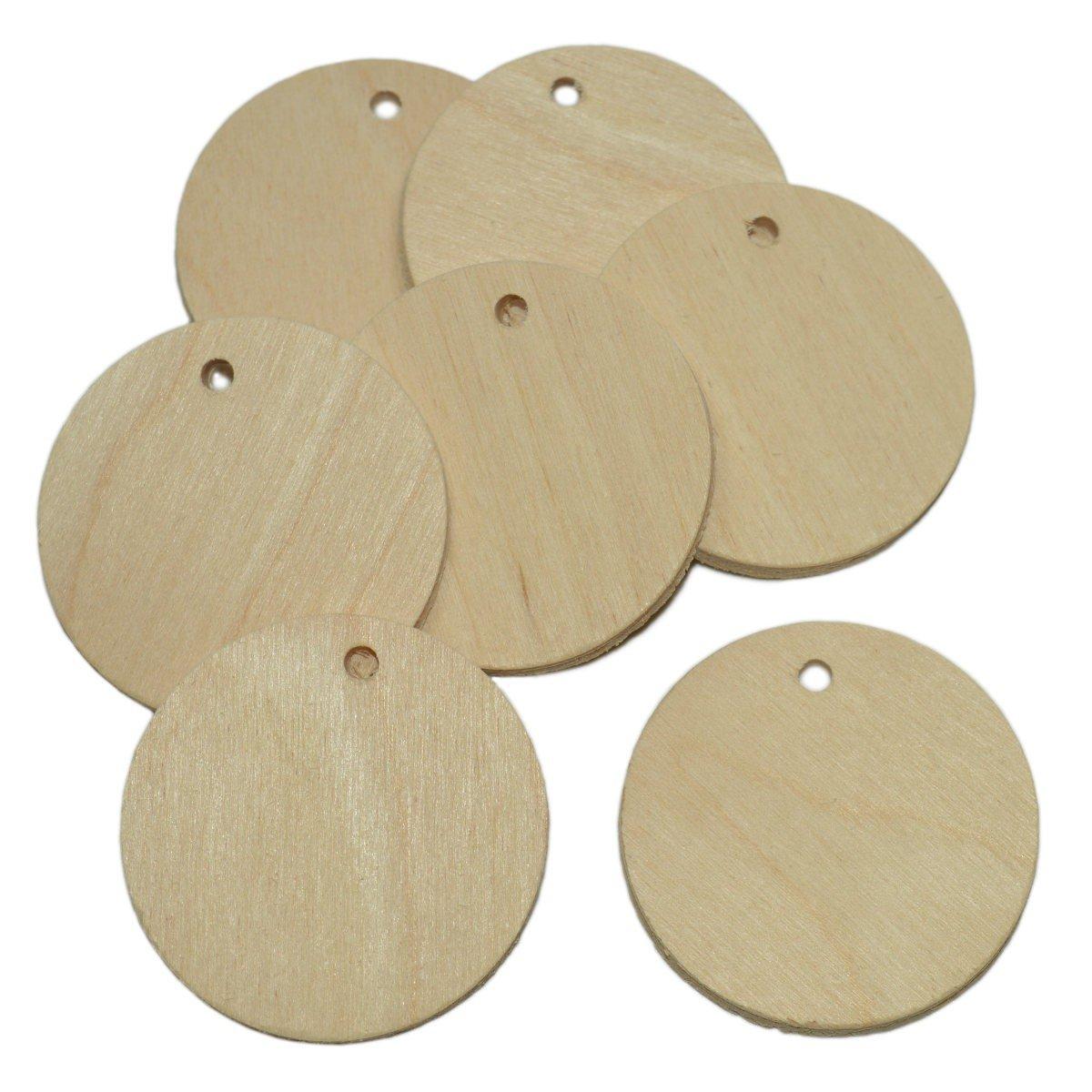 10 Stück Namensschild Holz rund 5cm - Holzscheiben zum Basteln ...