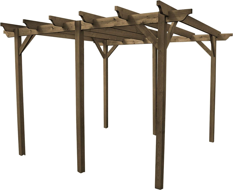 Rutland County Garden Furniture - Pérgola de jardín (Madera, 6 ...