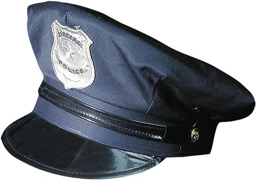 Gorra de Policía Ajustable Policía Sombrero: Amazon.es: Juguetes y juegos
