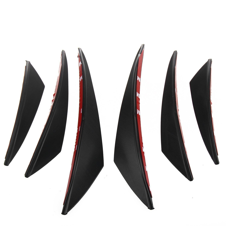 LiDiwee 6Pcs Universal Car Front Spoiler Bumper Roof Spoiler Wing Fiber Spoiler 38ZB31WZA2GSA2C11JND3