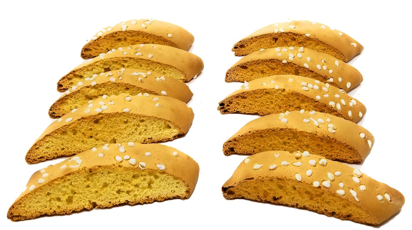 Anisette Toast (Cookies) - Twice Baked Fresh Daily - Crunchy - Biscotti - 2 Pounds - Baked in Brooklyn