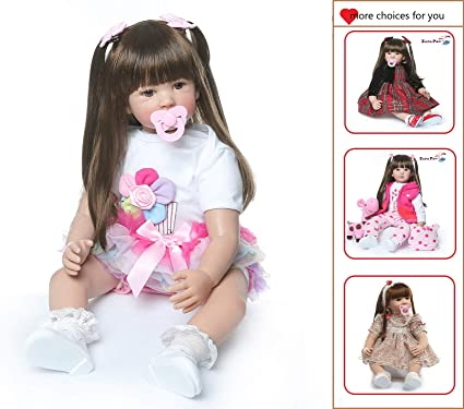 Outfit Reborn Baby Dolls Realistic Silicone Baby Toddler Doll for Girls 24/""