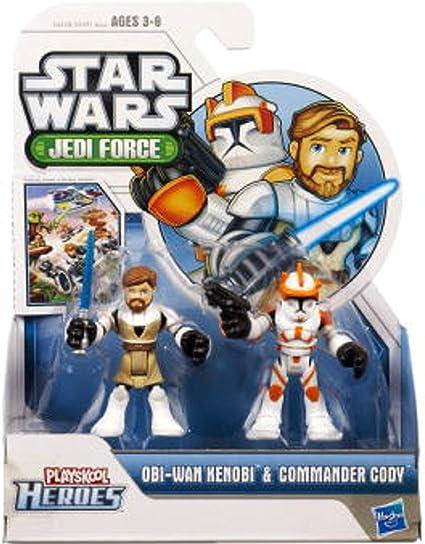 Playskool Star Wars Galactic Heroes Clone Wars Commander Cody Obi Wan Kenobi Lot