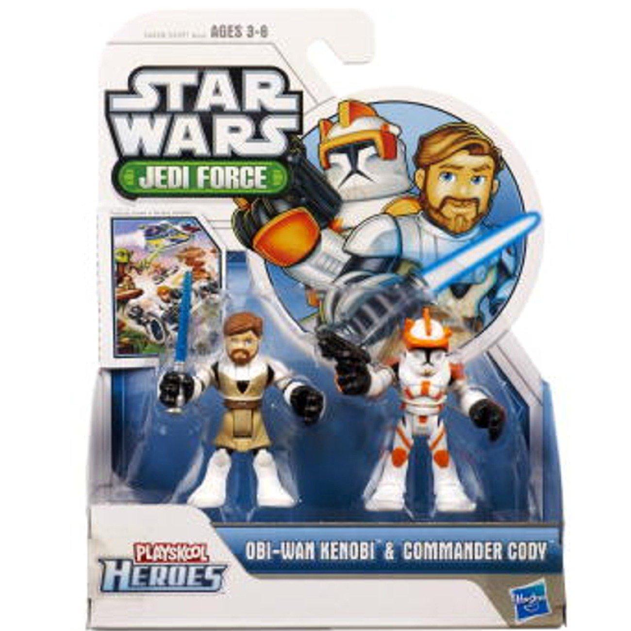 Star Wars Jedi Playskool Fuerza Héroes Obi-Wan Kenobi y comandante Cody figura de acción 2 por Hasbro