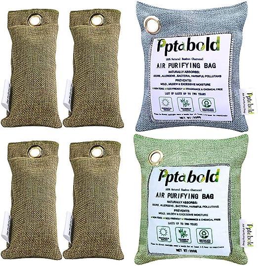 Carbón activo de bambú, deshumidificador natural, purificador de ...