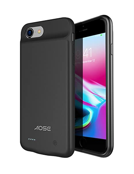lowest price 0c829 dfd17 Aose iPhone 7/8 Battery Case, Ultra Slim Portable Charging Battery Case for  iPhone 8/7 Smart Battery Charger Case with 3000mAh Protective Extended ...