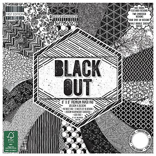 First Edition Black Out Premium Paper Pad 8'x8' 48 Sheets (FSC) Trimcraft FEPAD141
