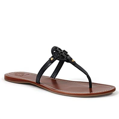 9c5dccfb1 Amazon.com | Tory Burch Mini Miller Women's Gabriel Sandal Leather Flat  Thong | Flats