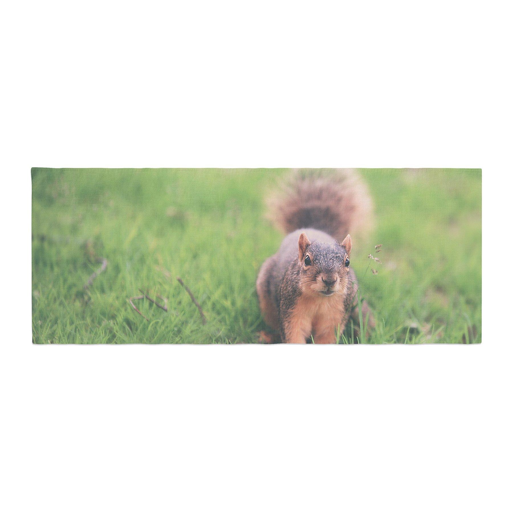 Kess InHouse Angie Turner Squirrel Brown Animals Bed Runner, 34'' x 86''