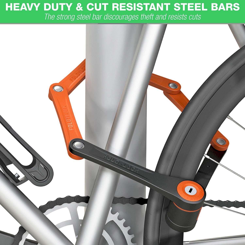 Foldylock Compact Bike Lock Bloqueo Cadena para Bicicletas ...