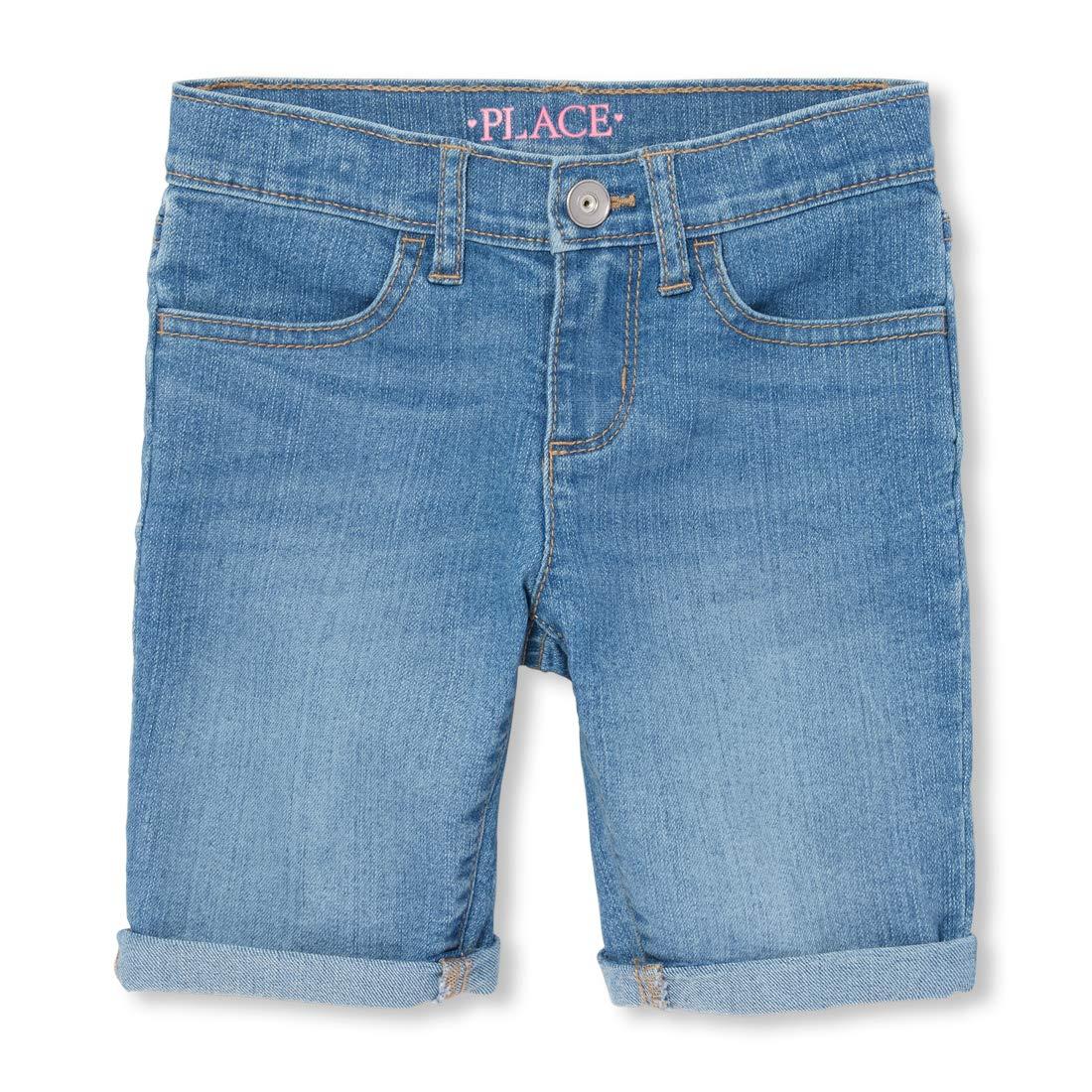 The Childrens Place Big Girls Denim Skimmer Shorts