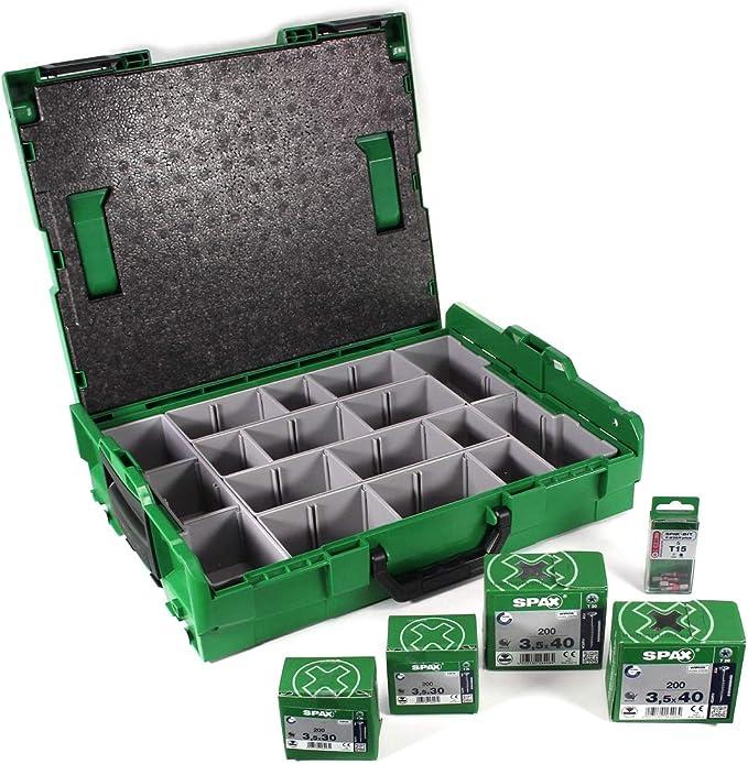 Valigetta di montaggio per viti senza accessori Spax Sortimo L-Boxx 5000009166019