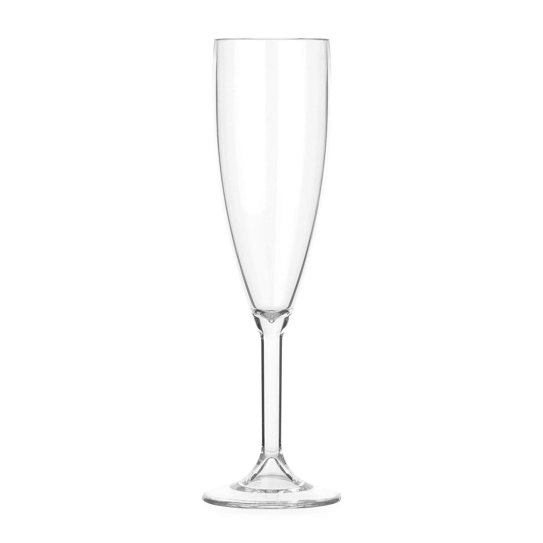 in policarbonato Lay-Z-Spa BWA0008/plastica Champagne riutilizzabili e infrangibili Trasparente 6/Pezzi