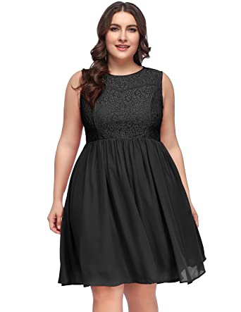 Plus Size Short Cocktail Party Dress
