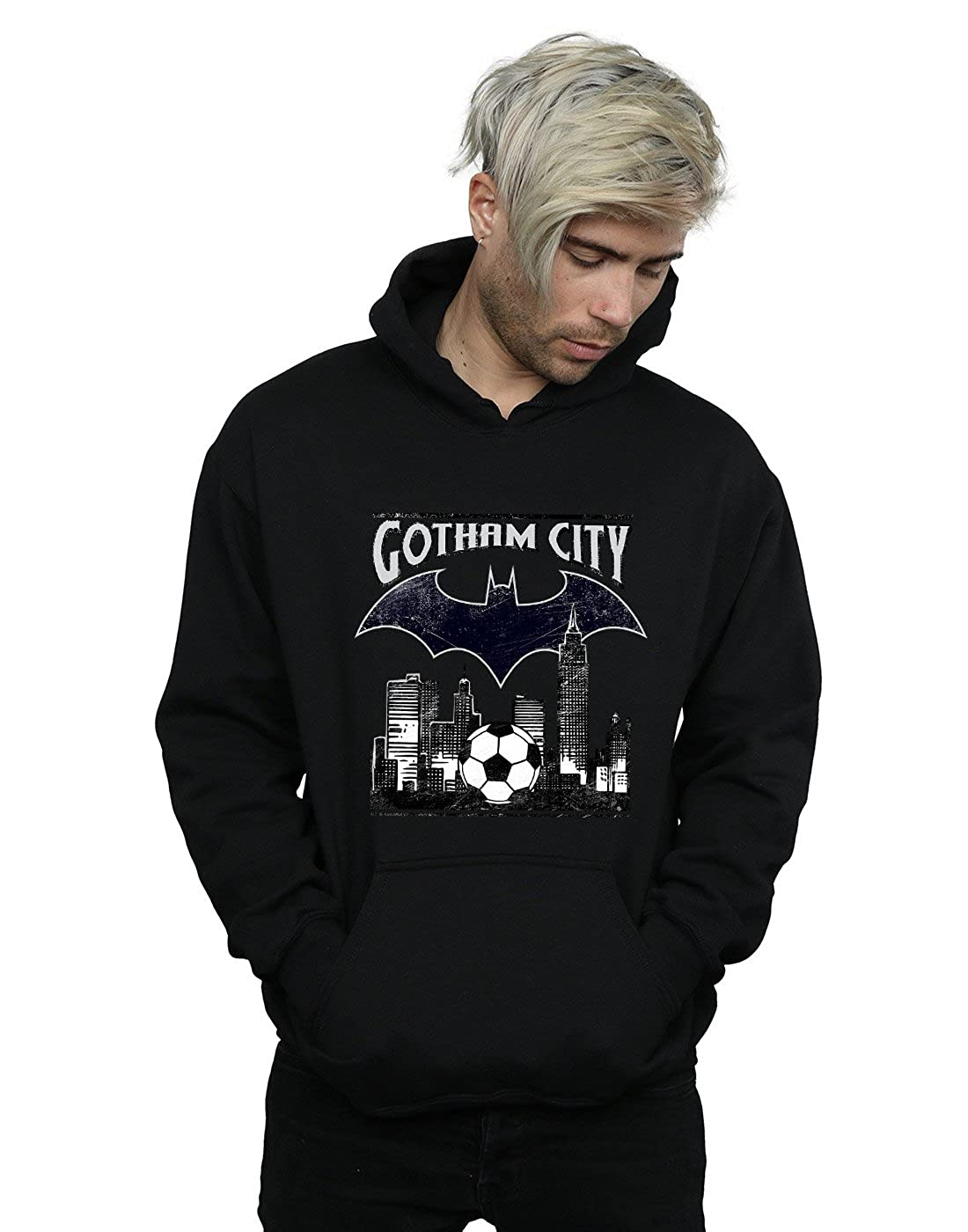DC Comics Herren Batman Football Gotham City Kapuzenpullover
