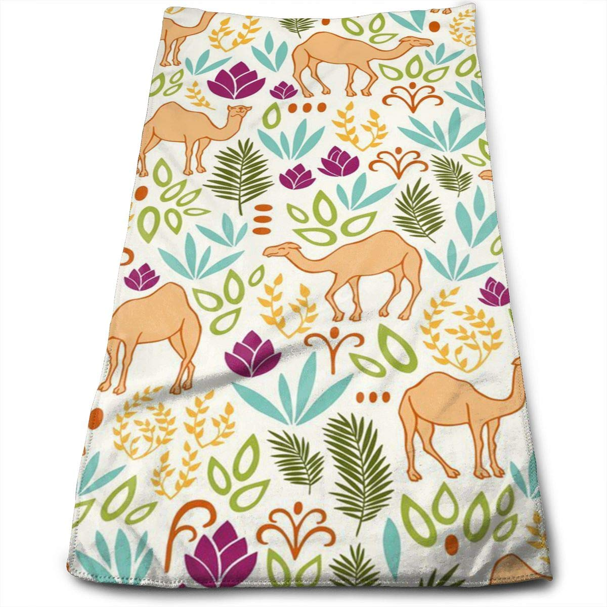 QiFfan22 Flower Camels Kitchen Towels - Dish Cloth - Machine Washable Cotton Kitchen Dishcloths,Dish Towel & Tea Towels for Drying,Cleaning,Cooking,Baking (12 X 27.5 Inch)