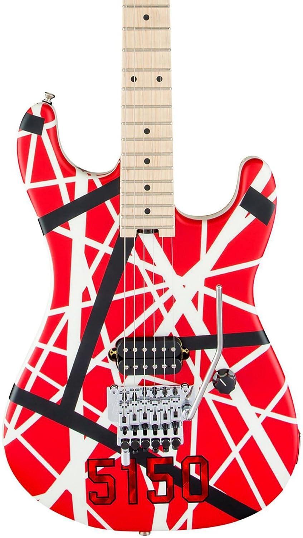 EVH Striped Series 5150 R/B/W · Guitarra eléctrica: Amazon.es: Instrumentos musicales