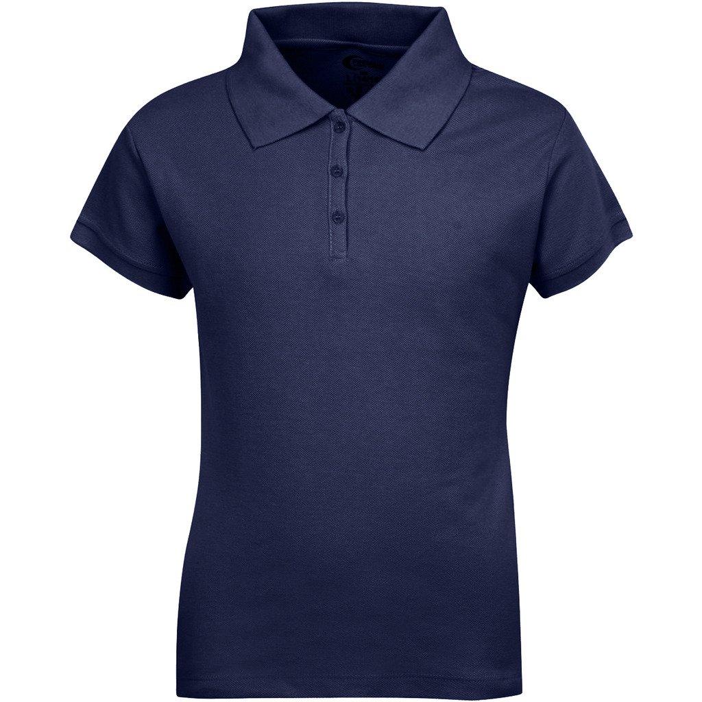 Premium Short Sleeves Girls Polo Shirts Navy S 7/8 by Premium (Image #1)