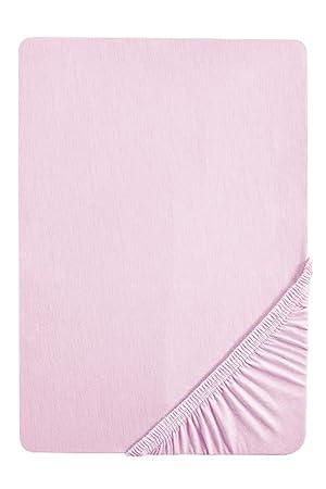 Biberna 77144/555/046, Sábana bajera ajustable elástica, Rosa (flieder), 90 x 190 cm - 100 x 200 cm: Amazon.es: Hogar
