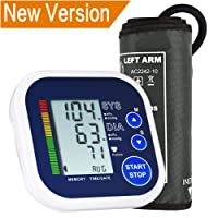 Blood Pressure Monitor, Upper Arm Blood Pressure Monitor for Home Use with Large LCD Display, Lrregular Heartbeat Detector Memory Store Last Readings 3 Year Warranty- Large Cuff (22cm - 42cm)