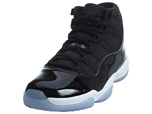 best cheap ed34f 64d3a Nike Mens Air Jordan 11 Retro Space Jam Black/Concord-White Leather Size 12