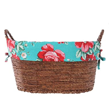 The Pioneer Woman Laundry Multi Purpose Small Oval Basket Tote Storage Container